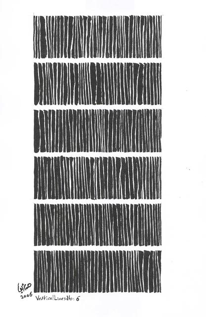 , 'Vertical Lines No. 6,' 2006, Gallery Isabelle van den Eynde