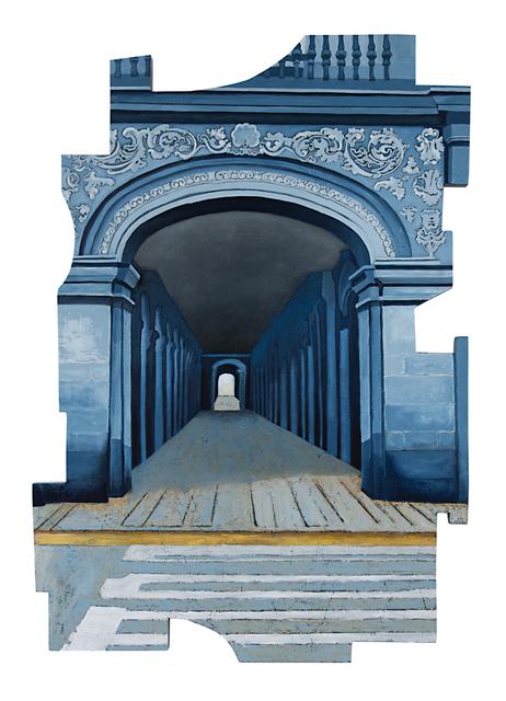 Cecilia Villanueva, 'Walk into the Light, Mexico City Architecture, blue, white and yellow post modern cityscape, conceptual art, downtown tunnel', 2019, Archway Gallery