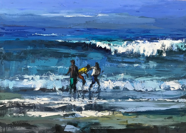 , 'Blue Sea,' 2018, Nicholas Roman Fine Art