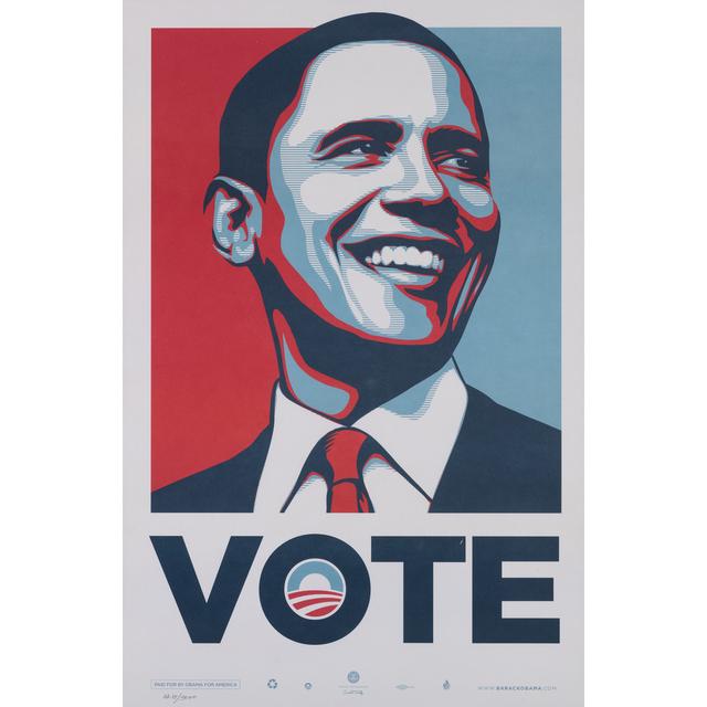 Shepard Fairey, 'Obama Vote', 2014, PIASA