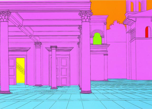 Michael Craig-Martin, 'Deconstructing Piero (pink) 1', 2004, Serge Sorokko Gallery