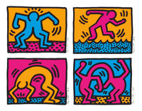 Keith Haring, Pop Shop II  Complete Portfolio (four pieces)