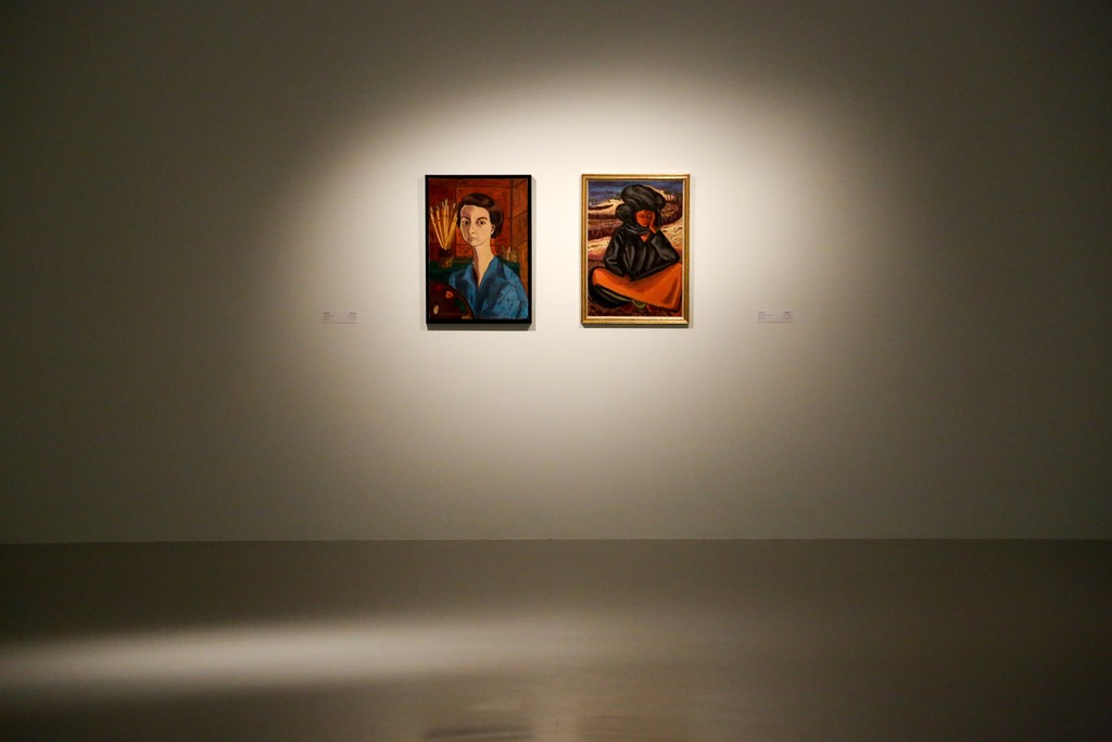 "Installation view of ""Focus: Works from the Mathaf Collection"" at Mathaf: Arab Museum of Contemporary Art, Qatar (2015-2016)"