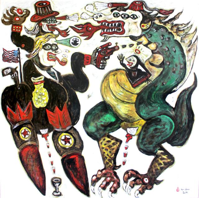 , 'Trump vs the Dragon,' 2017, Tang Contemporary Art