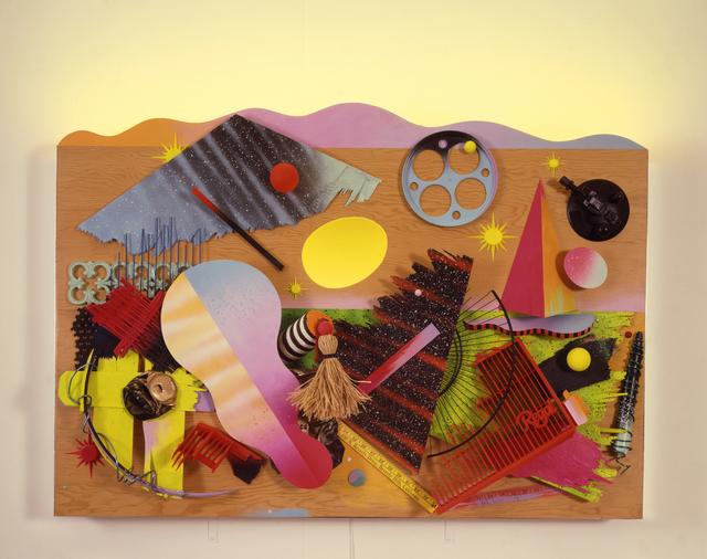 , 'A Fallen Sky in a Regal Landscape assemblage,' 1985, AIGA