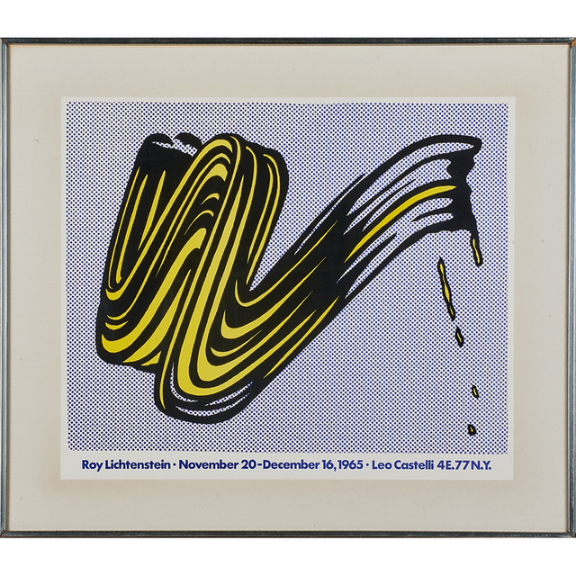 Roy Lichtenstein, 'Brush Stroke', 1965, Print, Offset lithograph in colors, Rago/Wright