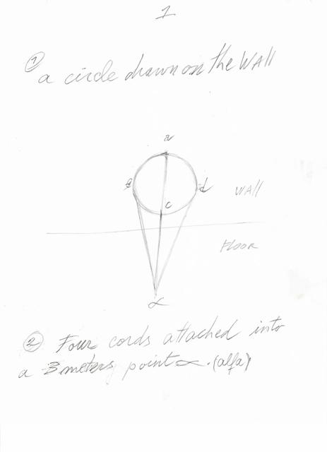 David Lamelas, 'Instrucciones para Situación de un círculo en dirección al alfa', 2018, Herlitzka + Faria