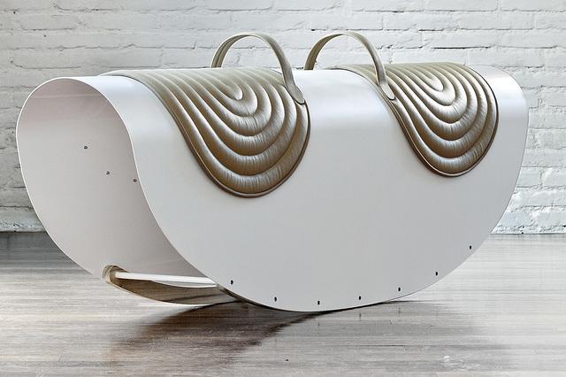 Lanzavecchia + Wai, 'Rockers', 2014, Sculpture, Lacquered iron, leather