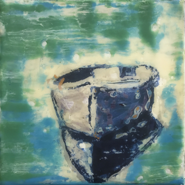 , 'Blue Boat,' 2018, WaterWorks Gallery