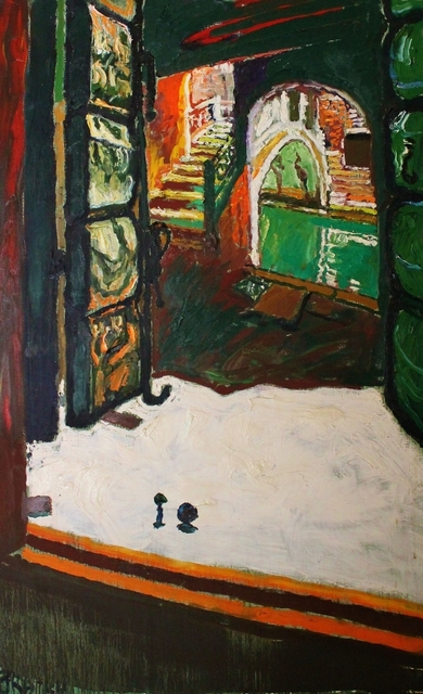 John Bratby, 'Arches by Venice hotel and ingressant enclosed space', Castlegate House Gallery