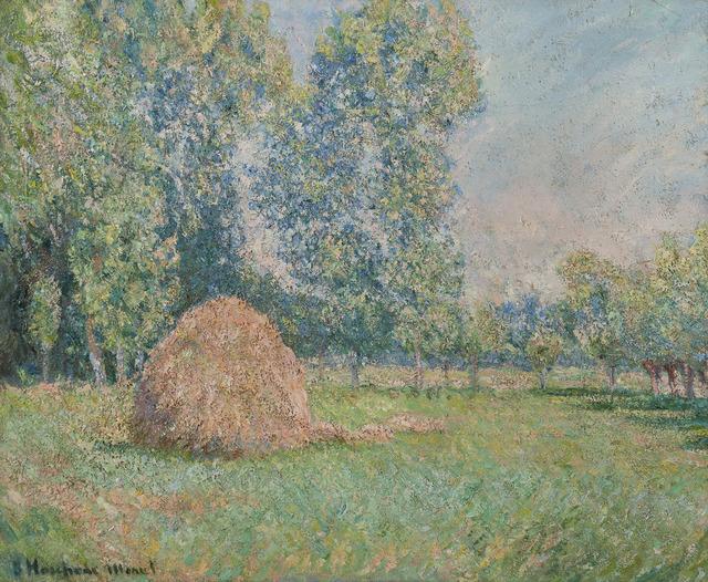 Blanche Hoschedé-Monet, 'Meule de foin, plaine des Ajoux, Giverny', 1884-1885, HELENE BAILLY GALLERY