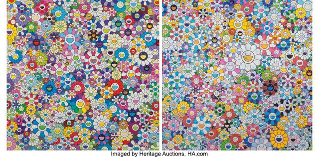 Takashi Murakami, 'Shangri La, Shangri La and When I Close My Eyes I See Shangri La', 2012-2016, Heritage Auctions