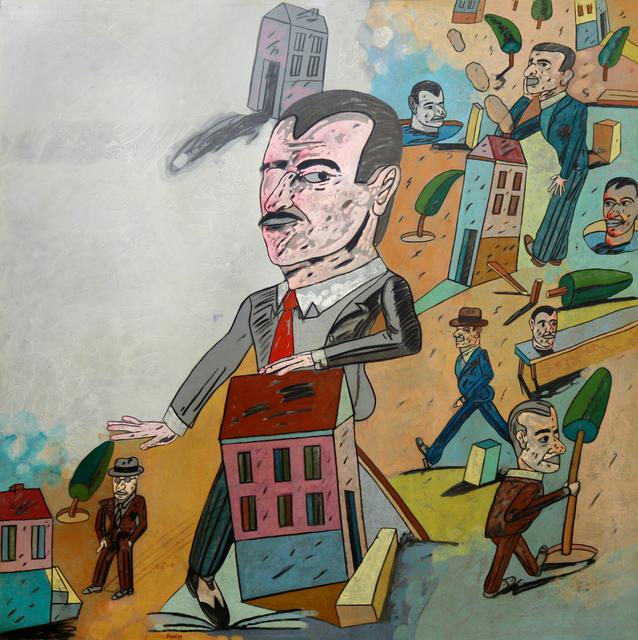 Antonio Seguí, 'Incompetencia ciudadana', 1985, Painting, Oil on canvas, Roldan Moderno