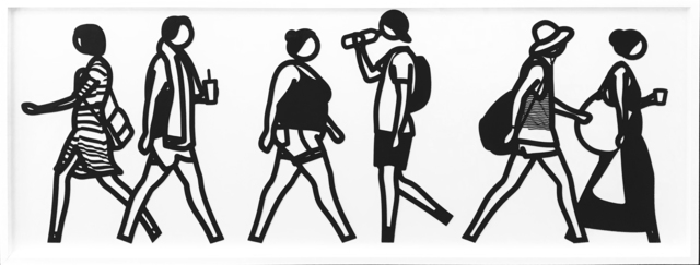 Julian Opie, 'WALKING IN MELBOURNE 5', 2018, Gallery Art