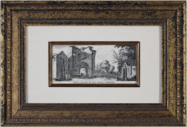 Israël Silvestre, 'Veduta Presso di San Stefano Rotondo', ca. 1650, David Barnett Gallery