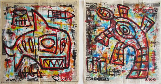 Gary John, 'Untitled', 2011, Painting, Acrylic on newsprint, Wallspace
