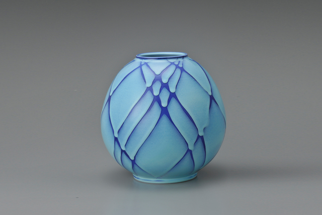 , 'Round Flower Vessel with Blue Tint,' 2007, Onishi Gallery