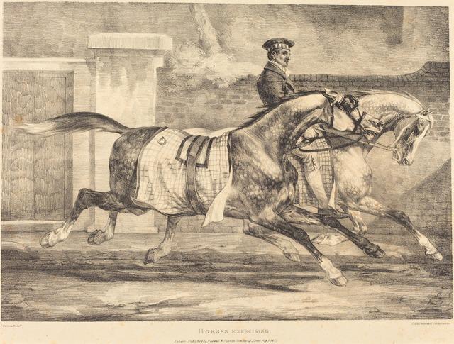Théodore Géricault, 'Horses Exercising', 1821, National Gallery of Art, Washington, D.C.