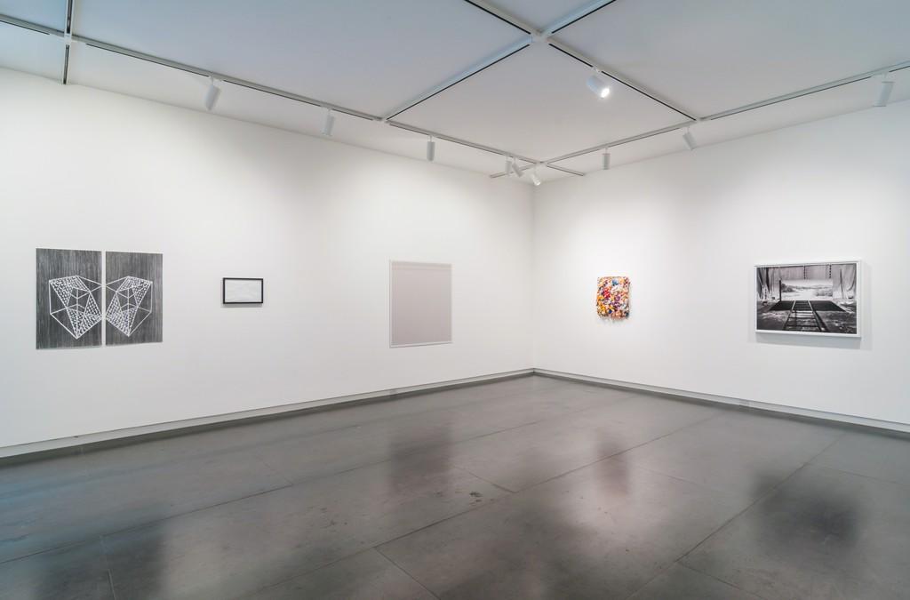 Ben Buswell, Zack Dougherty, Erika Keck, and Rodrigo Valenzuela works in The Great Debate About Art.