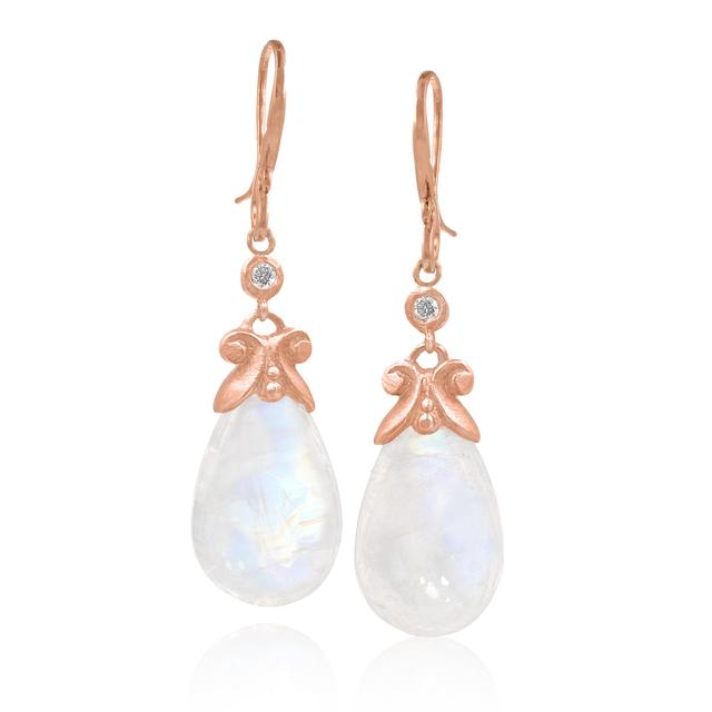 , ' Rainbow Moonstone & Diamond Earrings,' 2017, Szor Collections
