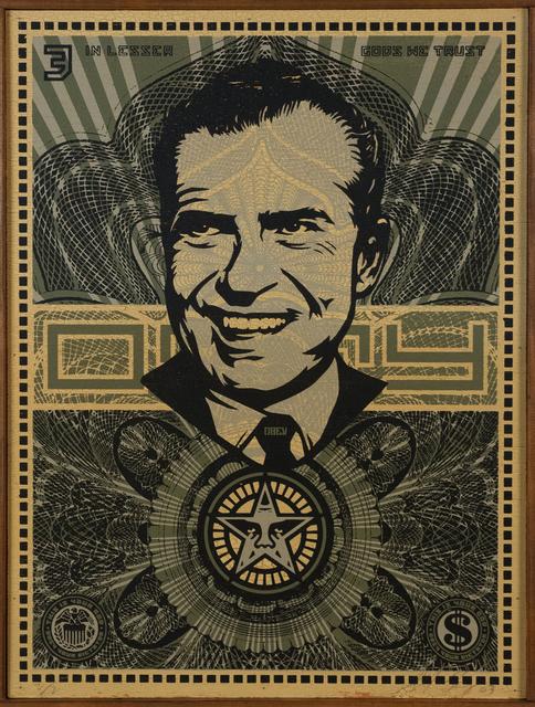 Shepard Fairey (OBEY), 'Nixon Money', 2003, Doyle
