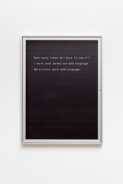 , 'Untitled (How many times do I ....),' , Vistamare
