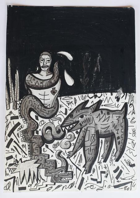 Felix Francisco Quintana, 'Migrantes y coyote en la frontera', 2017, The Dot Project