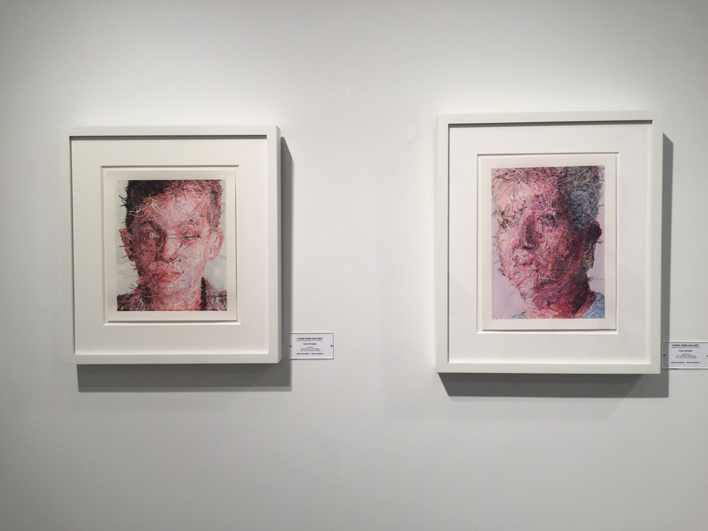 "(left) ""Teo Verso"" and ""Aunt Lin Verso"" (right), gouache on Arches paper"