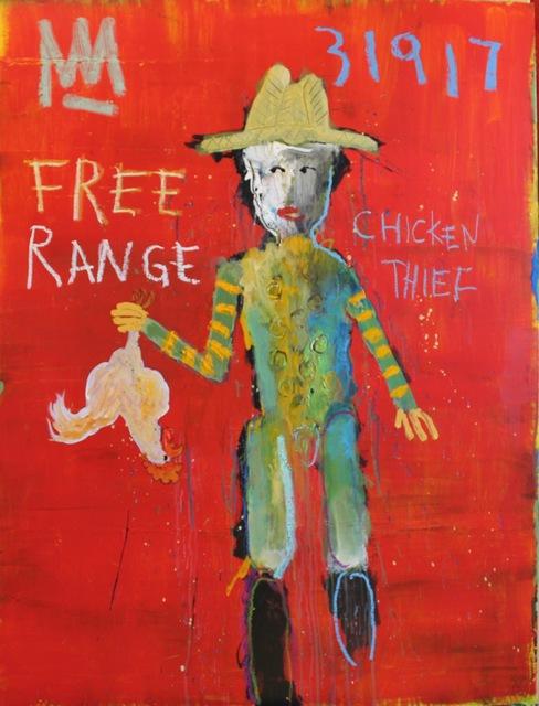 Michael Snodgrass, 'Free Range Chicken Thief', 2017, Rice Polak Gallery