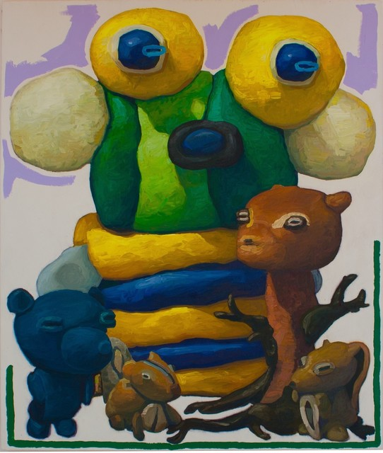 , 'Nobel Man with Forest Creatures and Blue Ghost,' 2016, Askeri Gallery