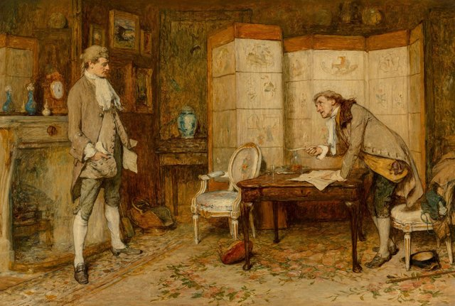 William Quiller Orchardson, 'The bill of sale', 1876, Heritage Auctions
