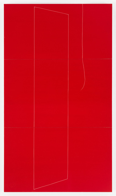 , '#2 thread out, red,' 2015, Philip Slein Gallery