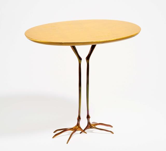 Méret Oppenheim, 'Traccia', Design/Decorative Art, Bronze, patinated gold; wooden plate refined with gold leaf, Van Ham