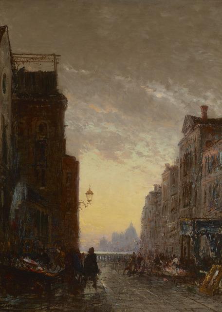 Felix Ziem, 'Market Place, Venise', 1816-1918,  M.S. Rau Antiques