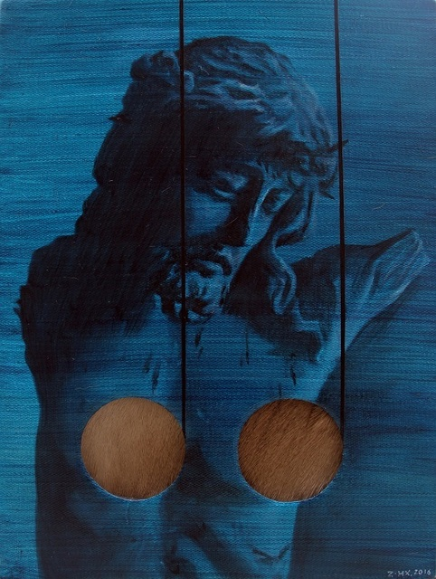 , ' Blue Jesus ,' 2016, Triumph Art Space