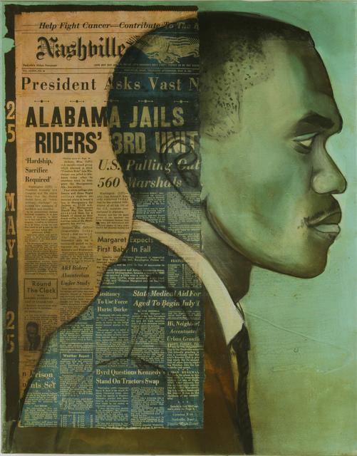 Charlotta Janssen, 'Frank Holloway (Profile) 22 yrs, from Atlanta GA Arrested 5/24/1961 Jackson MS', 2011, Hudson Milliner Art Salon
