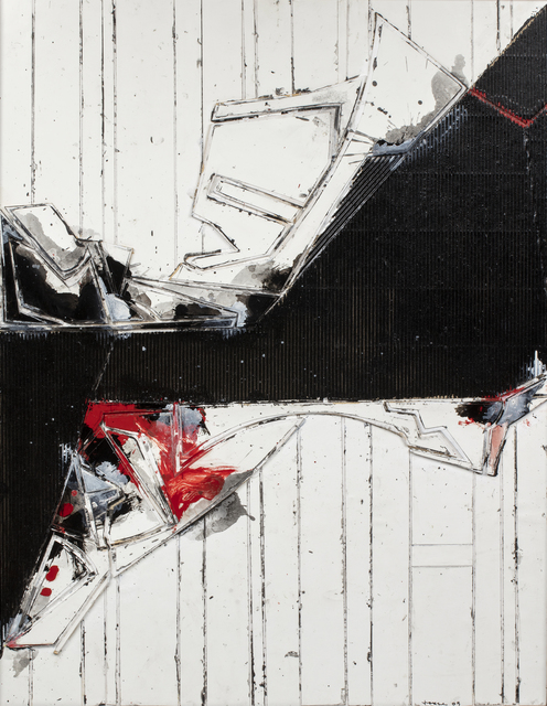 John Harrison Levee, 'Composition', 2005, Painting, Acrylic and collage on cardboard, Millon