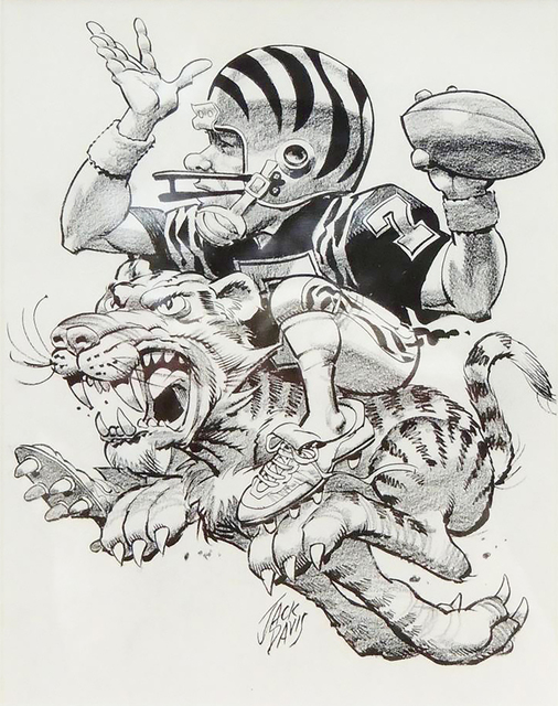Jack Davis, 'Cincinnati Bengals', 1990, The Illustrated Gallery