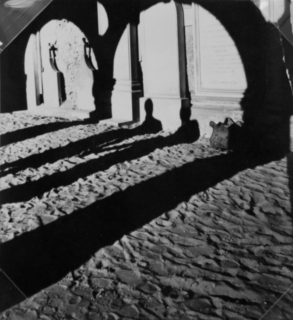 Lucien Hervé, 'Cemetry of Monfort, Lamory, France ', 1947, Photography, Vintage silver gelatin contact print, cropped to size by the artist, Michael Hoppen Gallery