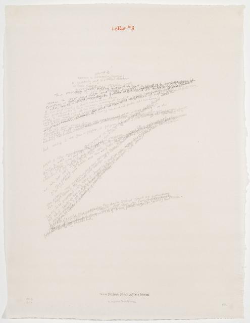 , 'Letter #3,' 2004, Travesia Cuatro