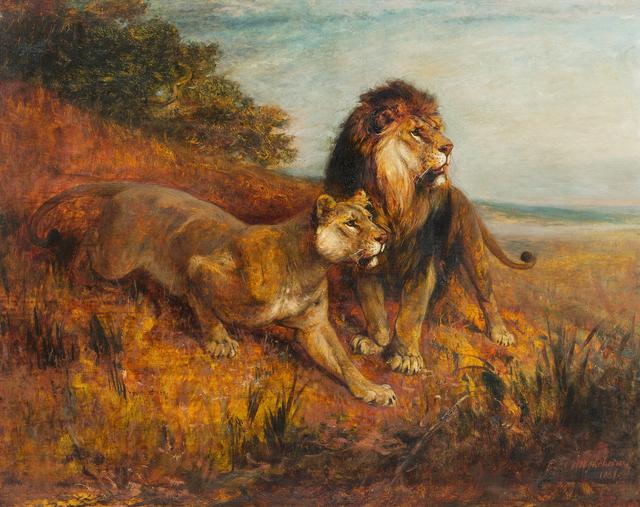 , 'Lying in Wait,' 1881, Kunkel Fine Art