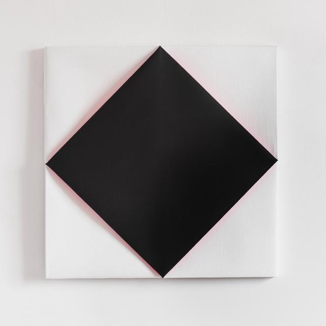Viktoria Körösi, 'Untitled / Black Square', 2013-2019, Painting, Folded relief, oil, acrylic on canvas, wooden panel, Art Advisory Budapest