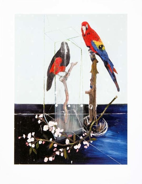 Damien Hirst, 'Two Birds with Blossom', 2012, Kenneth A. Friedman & Co.