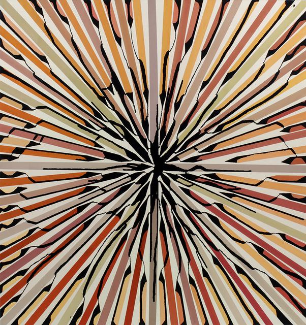 , 'Orange to Green Painted Bands,' 2015, Matthew Rachman Gallery