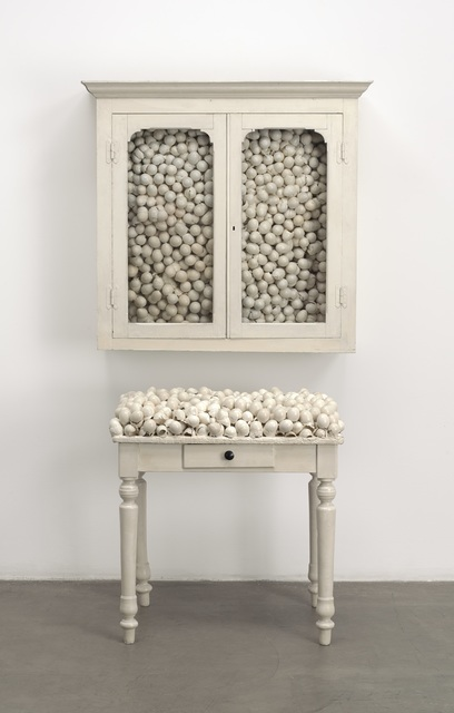 , 'Armoire blanche et table blanche (White cabinet and white table),' 1965, The Museum of Modern Art