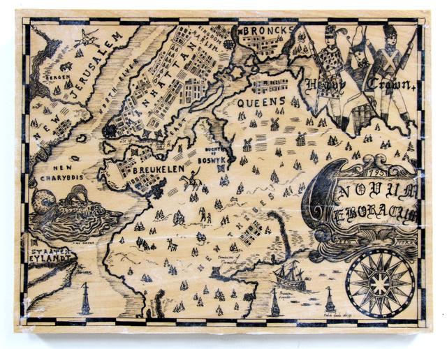 , 'Let's go uptown! Map of the Bartican Kingdom of Harlem.,' 2017, Johannes Vogt Gallery