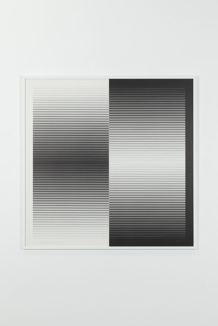 , 'Graphic programming: positive-negative, 105/125,' 1962, Galerie Denise René