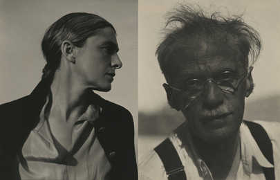 Two works: Alfred Stieglitz, Lake George, New York and Rebecca Strand, New Mexico