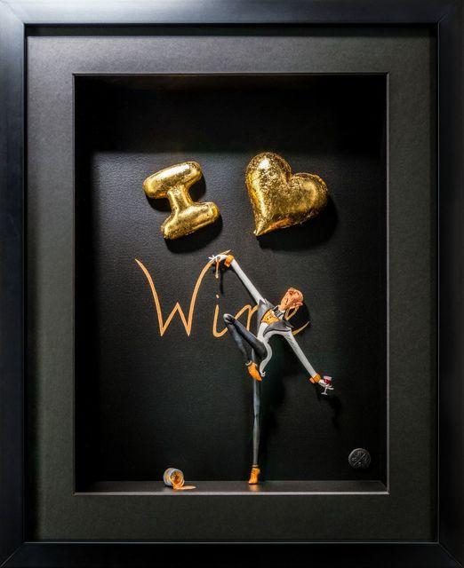 Kunst met een R, 'I love Wine Gold ', 2020, Sculpture, 3D Shadow Box, Eden Fine Art
