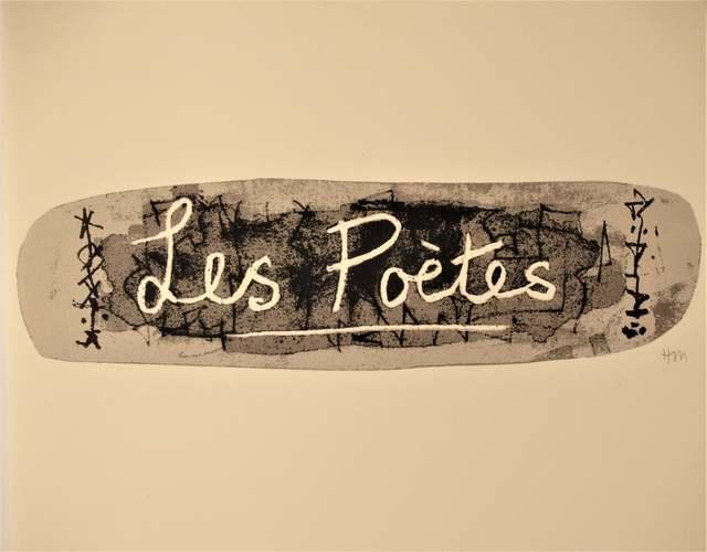 Henry Moore, 'Les Poetes, La Poesie, Front Page', 1976, Print, Color lithograph, Joseph Grossman Fine Art Gallery